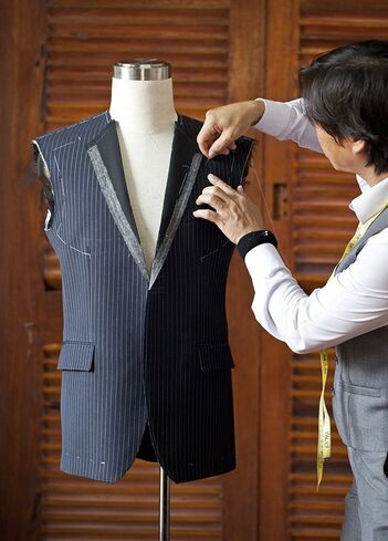 Waistcoat being Custom Tailored at Yaly Couture